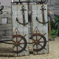 Vintage Anchor Picture Nautical Decor Rustic Wooden Sign ...