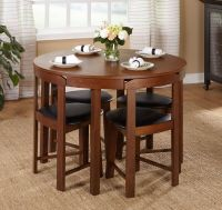 Modern 5pc Dining Table Set Kitchen Dinette Chairs ...