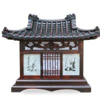 Traditional Japanese Style Wooden Home Table Lamp Decor ...
