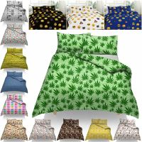 DUVET COVER WITH PILLOW CASE CANNABIS BEER DENIM LIPS ...