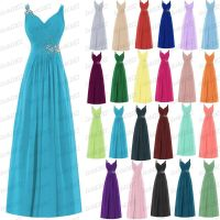 Long New Formal Evening Ball Gown Party Prom Bridesmaid ...
