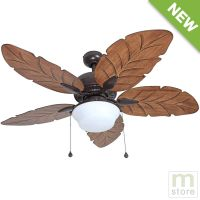"52"" Ceiling Fan with Light Kit Indoor Outdoor Downrod"