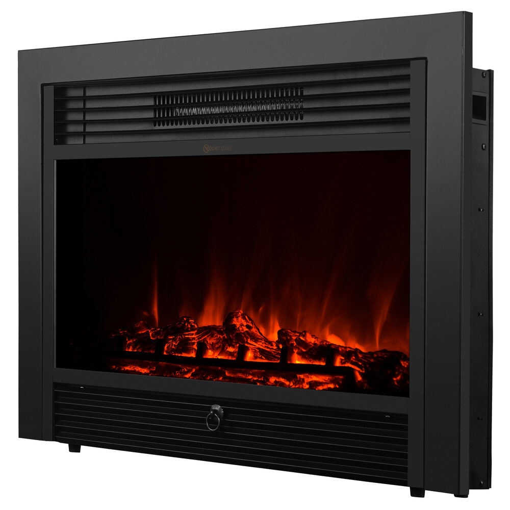 Embedded 285quot Electric Insert Heater Fireplace Log Flame