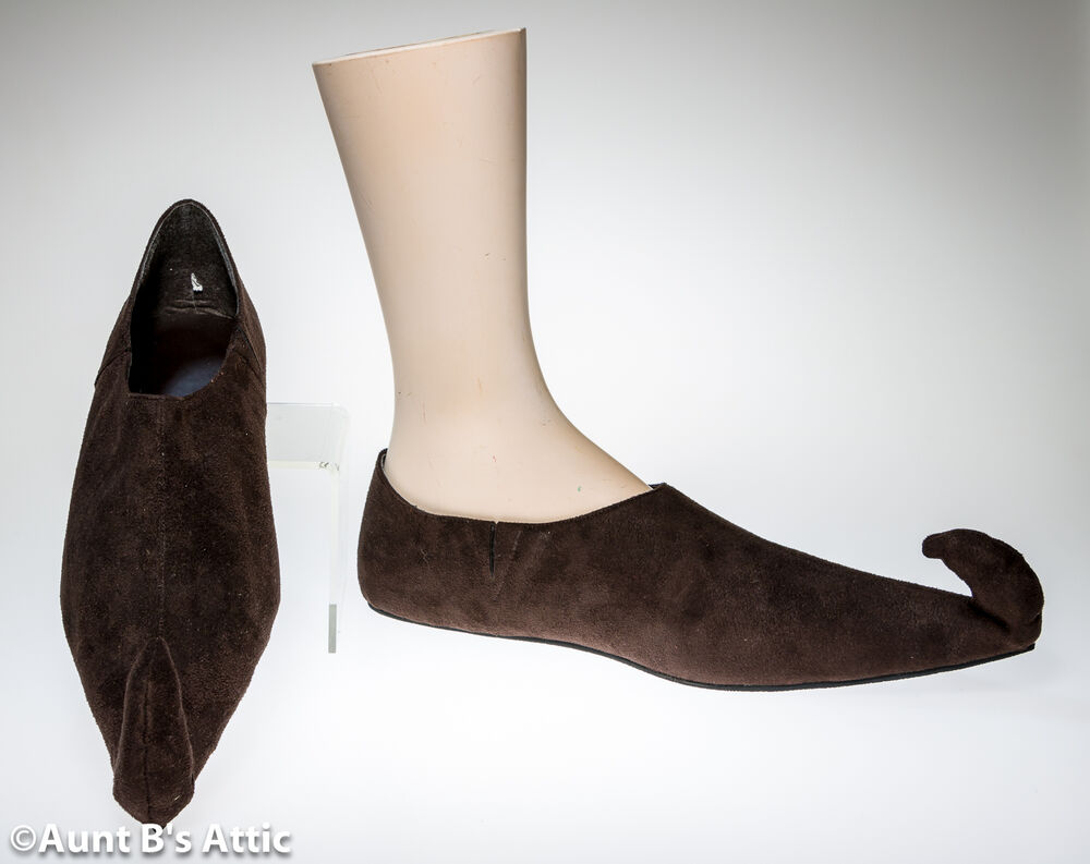 Renaissance Shoes Brown Suede Like Men39s Curly Toe Period