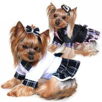 GIRL Yorkie Yorkshire Terrier Small Dog Clothes Coat Dress ...
