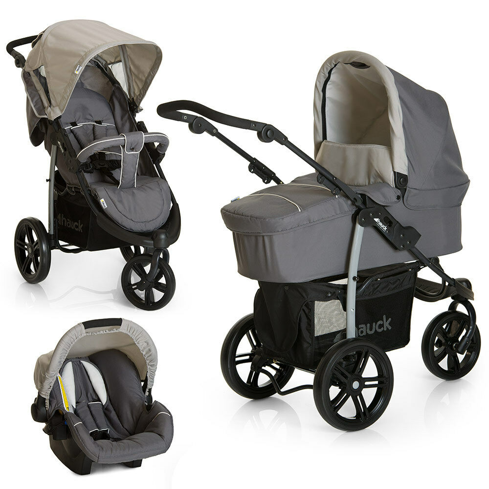 Hauck Jogger Viper Slx Trio Set Smoke/grey Kinderwagen 3 In 1 Hauck Hauck Kinderwagen 3 In 1
