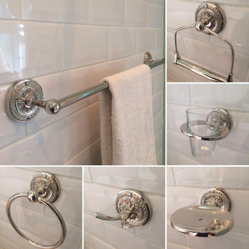 Toilet Accessories Bathroom Accessories Nickel Brass Toilet Roll Towel Holders Accessory Set Or 1pc Ebay