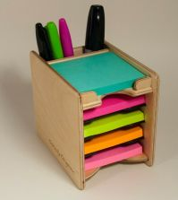 Sticky Notes Post-it Pad and Pen Holder (includes 5 pads 3 ...
