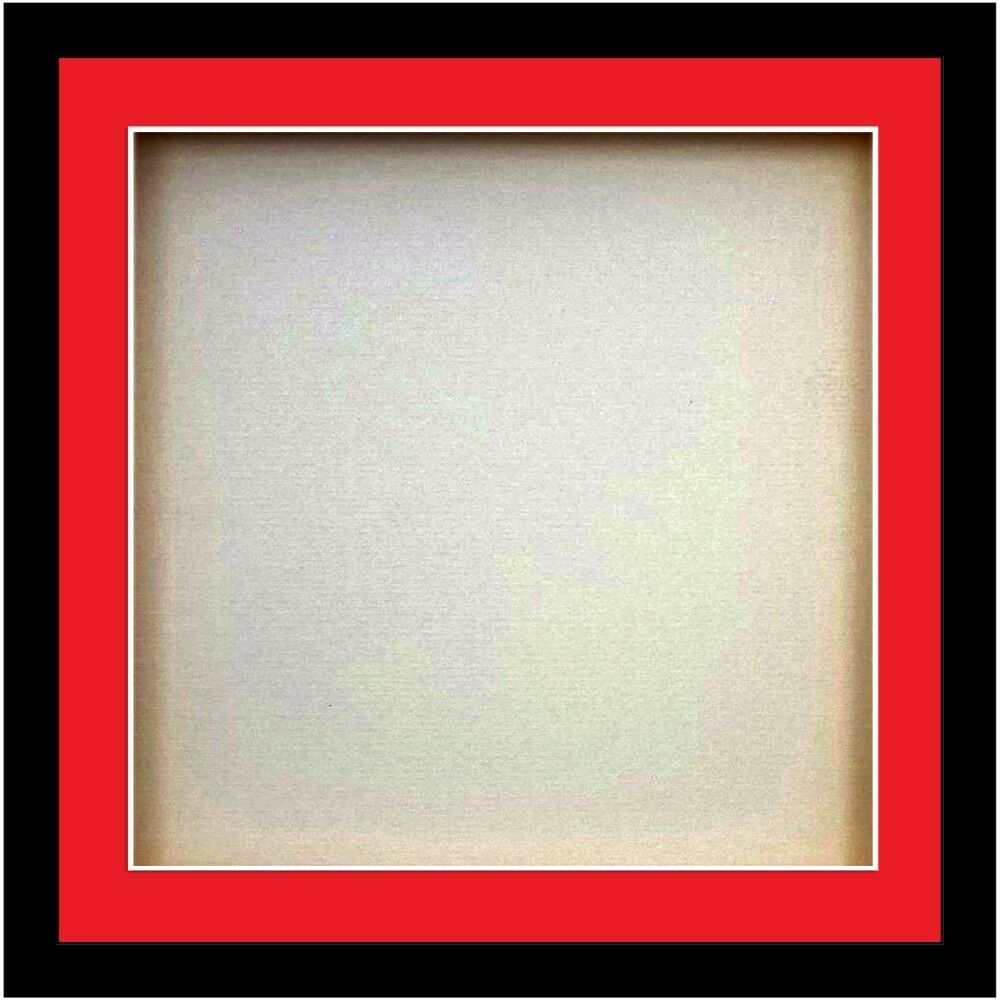 Square Box 3d Square Box Frames For Baby Cast Shadow Deep Display Case Medals Red Mount Ebay