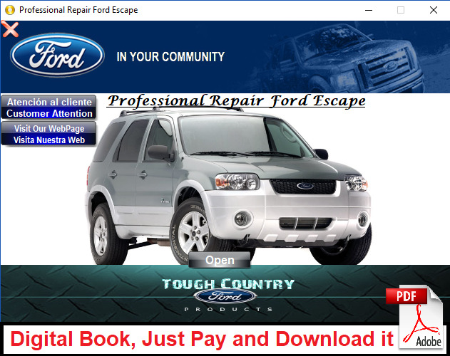 FACTORY SERVICE REPAIR MANUAL FOR FORD ESCAPE AND MERCURY MARINER