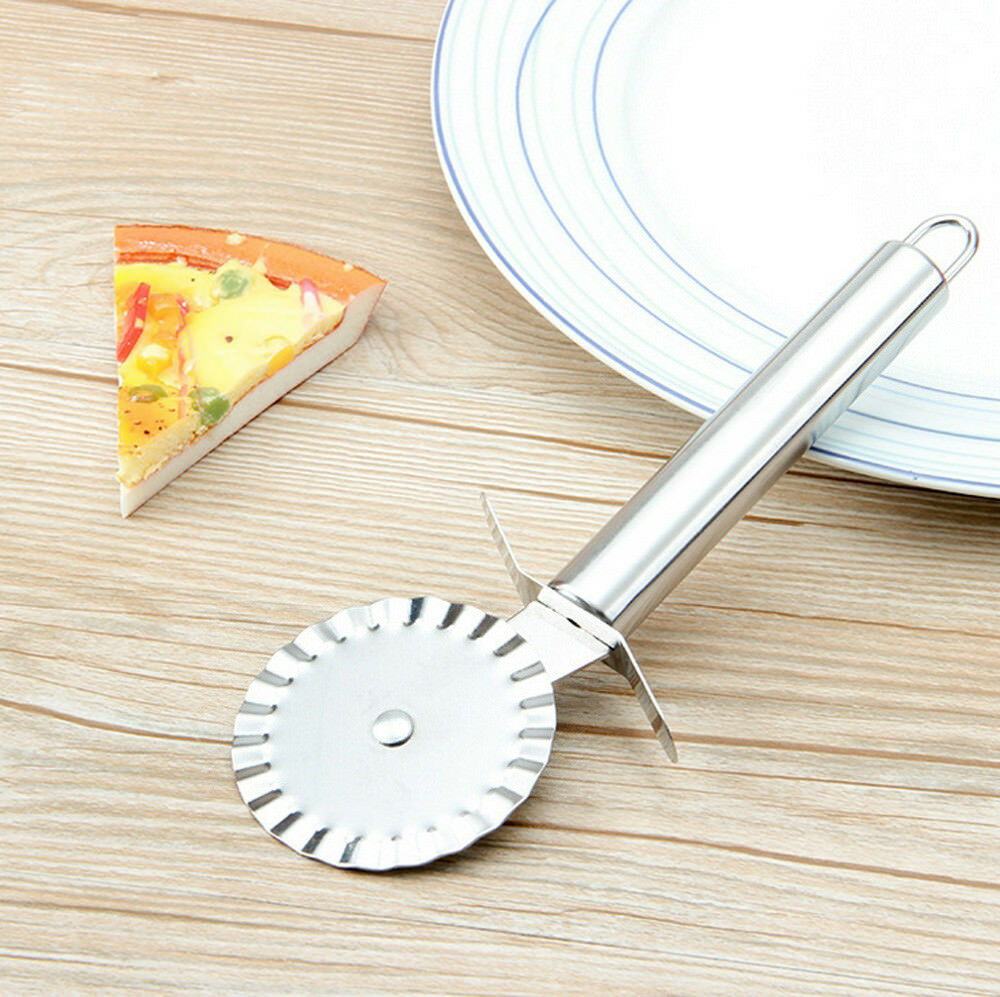 Pizza Roller Single Wheel Pizza Cutter Slicer Stainless Steel Pancake Pastry Pie Baking Tool 606989553942 Ebay