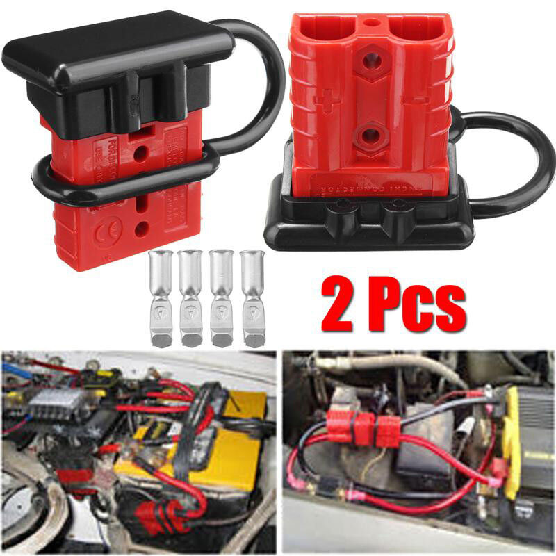 2Pcs Battery Quick Connect Kit -50A Wire Harness Plug Disconnect