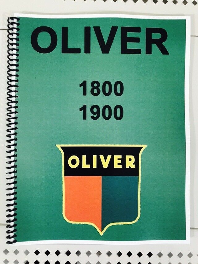 1800 Oliver Tractor Technical Service Shop Repair Manual eBay