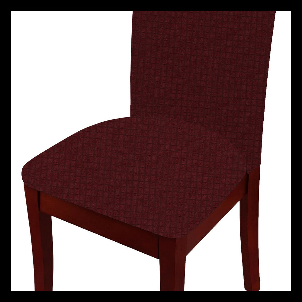 Chair Cover Fancy Linen 2pc 4pc Dining Chair Cover Set Waterproof Assorted Colors New Ebay
