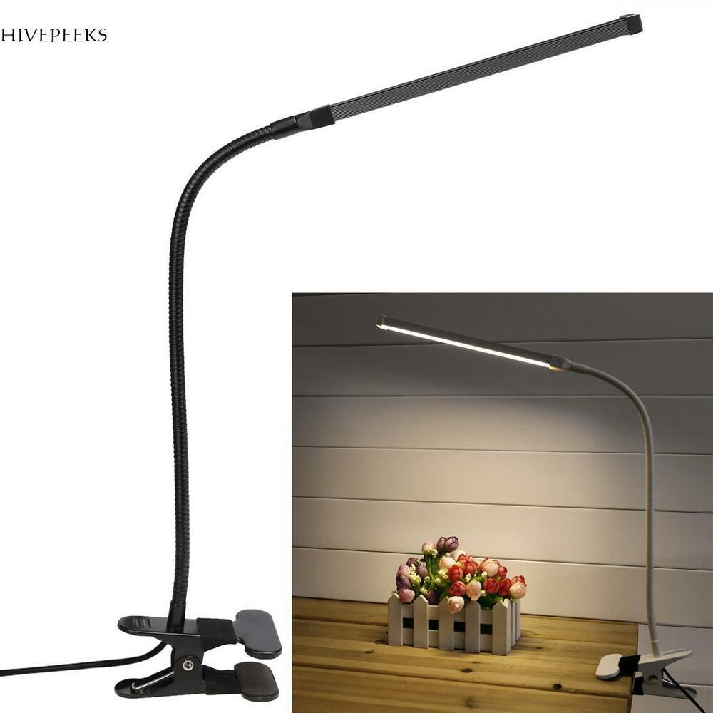 Study Table Light Led Desk Table Reading Light Lamp Eye Care Adjustable W Power Adapter New Ebay