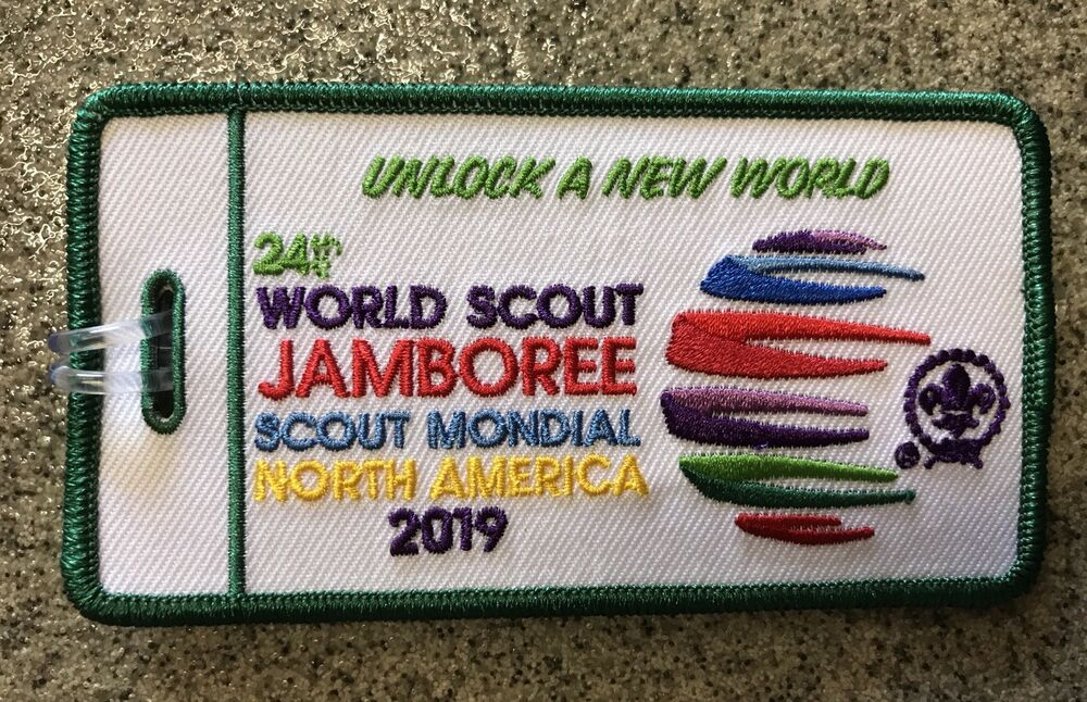 24th World Scout 2019 Jamboree Luggage Tag Green Boarder eBay