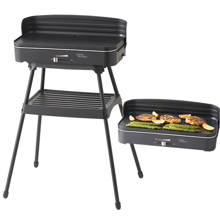 Florabest Bbq Davis Waddell Essentials 2 In 1 Electric Bbq Barbecue Indoor Grill W Stand 9345869185231 Ebay