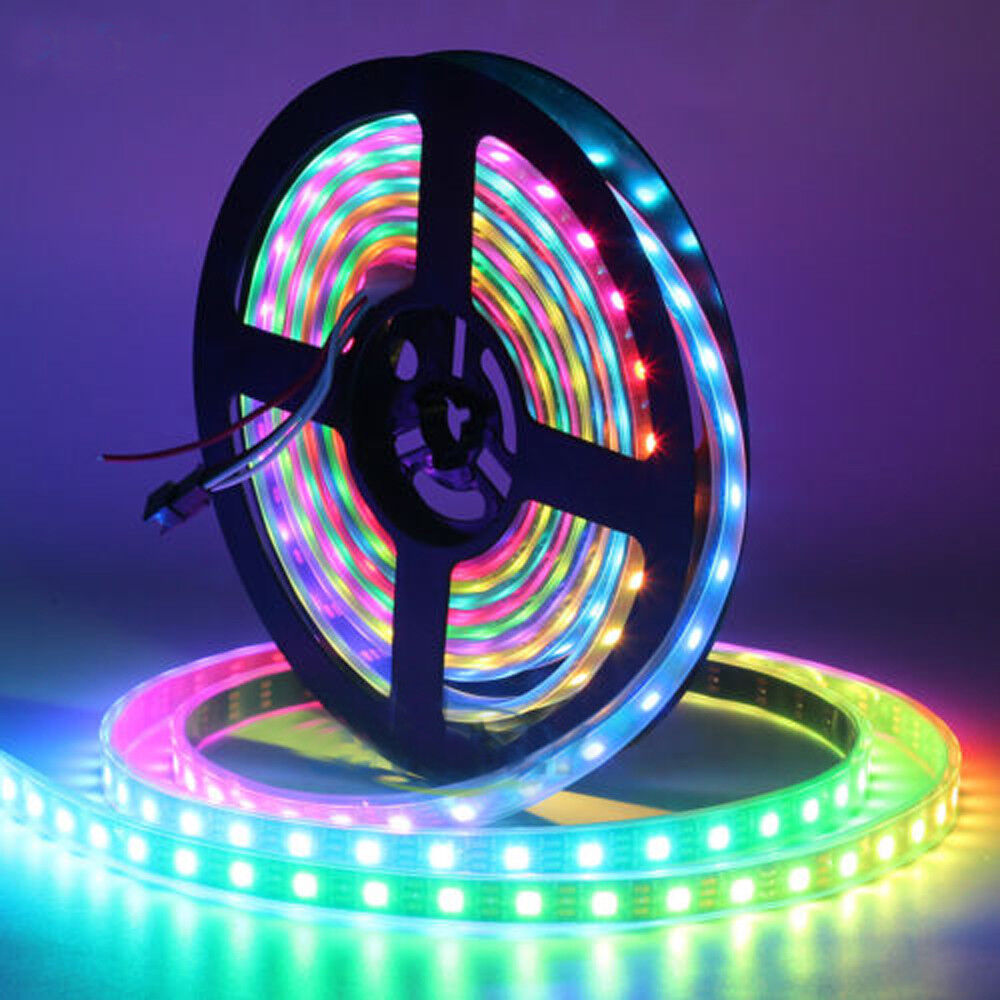 Strip Led Ws2812b Strip Led Lights 5050 Rgb 30 60 144 Led M Ic Individual Addressable Dc5v Ebay