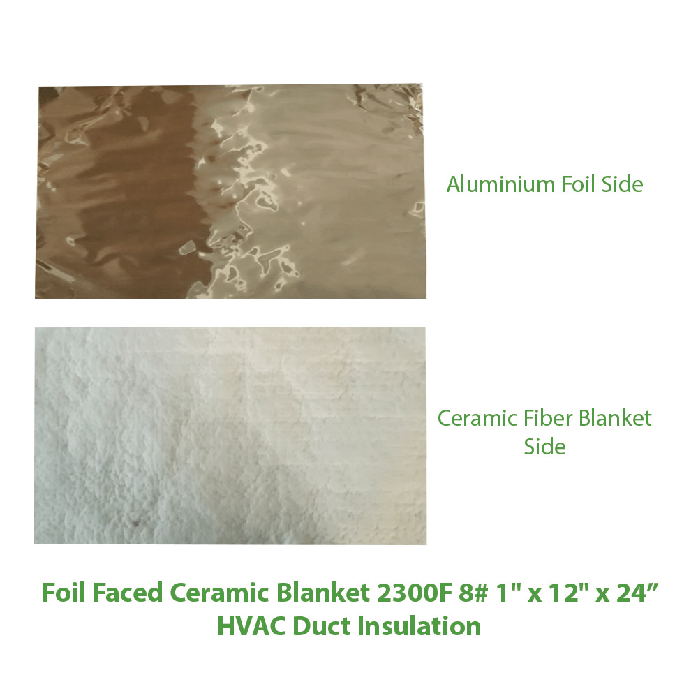 Foil Insulation Blanket Foil Faced Ceramic Blanket 2300f 8 1