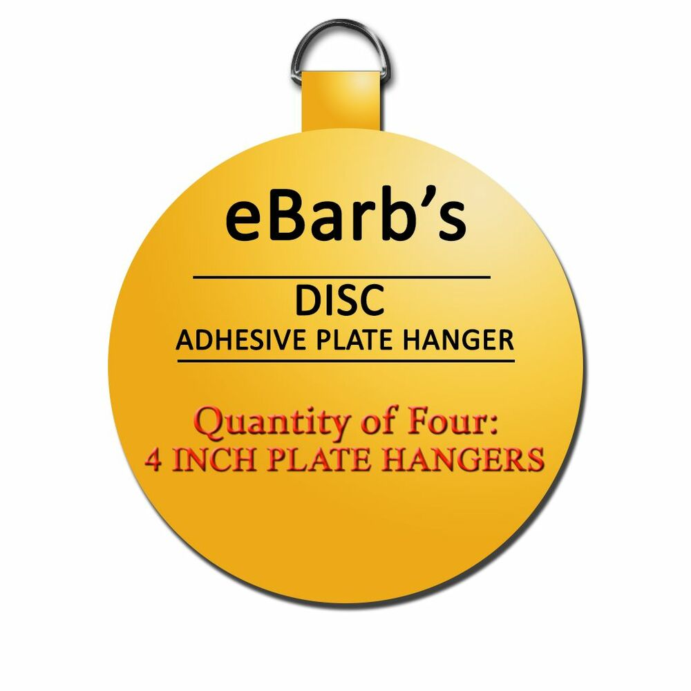 Glass Plate Hanger Four 4 In Hangers Ebarb S Disc Plate Hangers Best Prices See Our Store 609722691741 Ebay