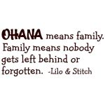 Lilo And Stitch Ohana Means Family