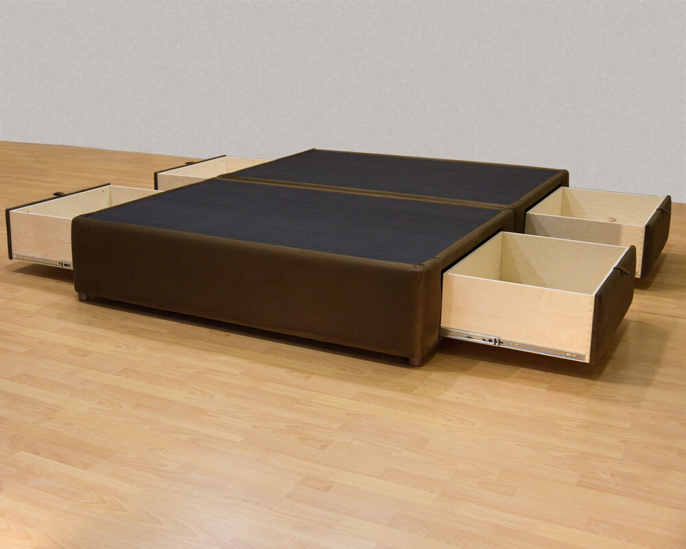 Platform Bed With Drawers King Platform Bed With Storage Drawers Uphostered Storage