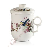 270ml Pied Magpie Chinese Ceramic Porcelain Tea Mug Cup ...