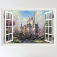 Full Colour Fairy Tale Castle Child's Window Wall Sticker ...