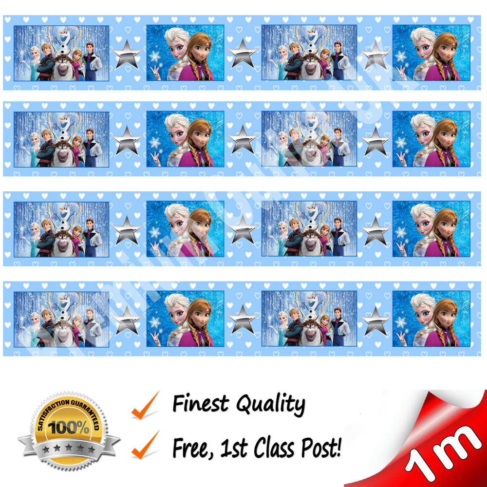 Decoration Olaf Anniversaire Frozen Elsa Anna Edible Cake Ribbon Decoration Birthday Cake Ribbon Wafer Paper Ebay