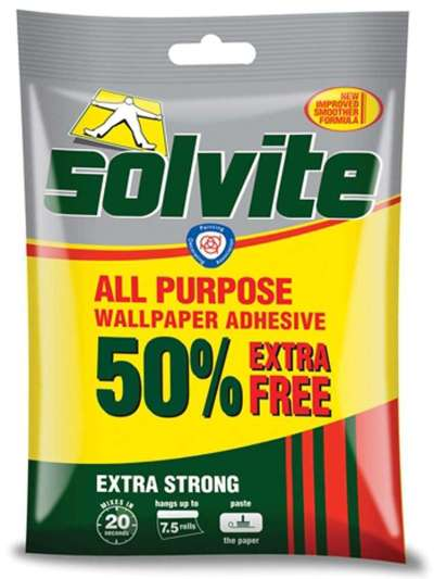 Solvite Wallpaper Adhesive Paste Glue Extra Strong All Purpose | eBay