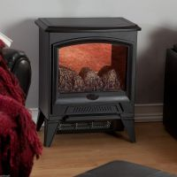 Amish Electric Stove Flame Mantle Compact Economy ...