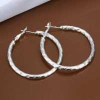 925 Sterling Silver Hoop Pierced Earrings L105 | eBay