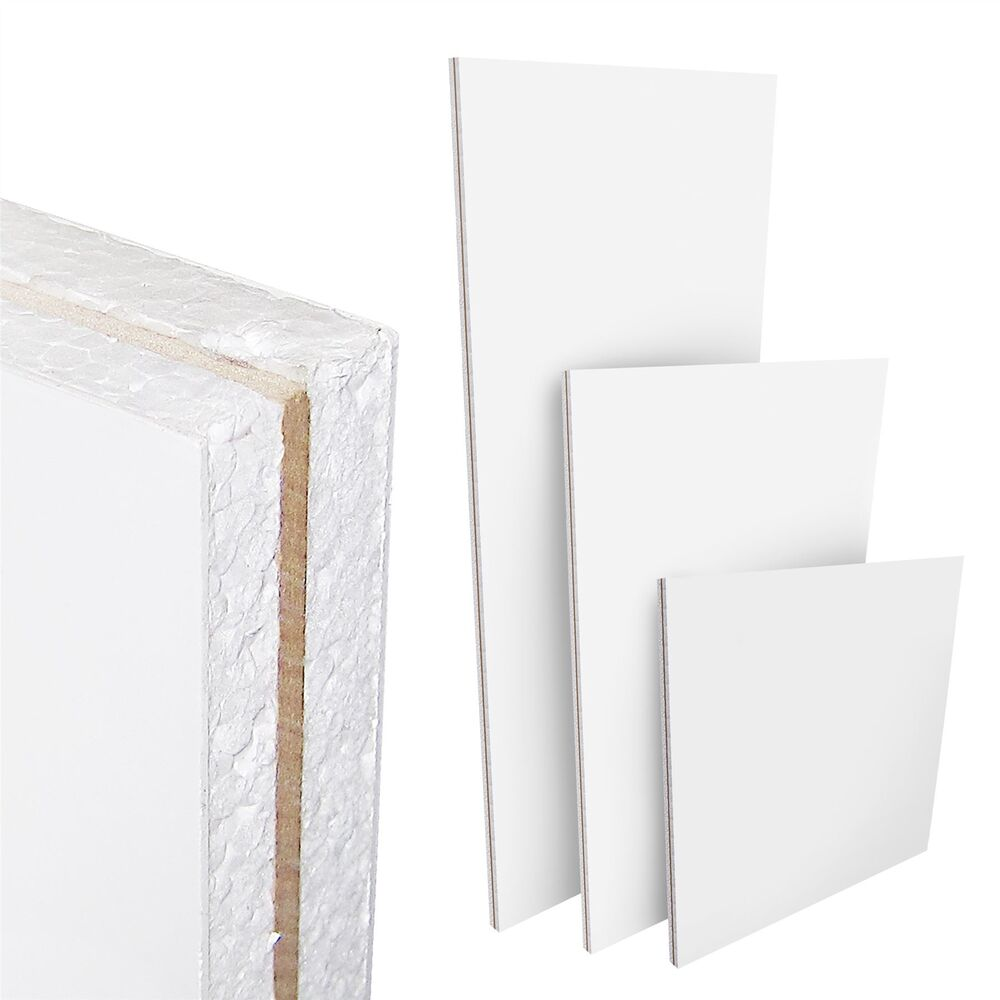 Mdf Panel White Upvc Flat Door Panel Mdf Reinforced 20mm 24mm 28mm Thick Plastic Pvc Ebay