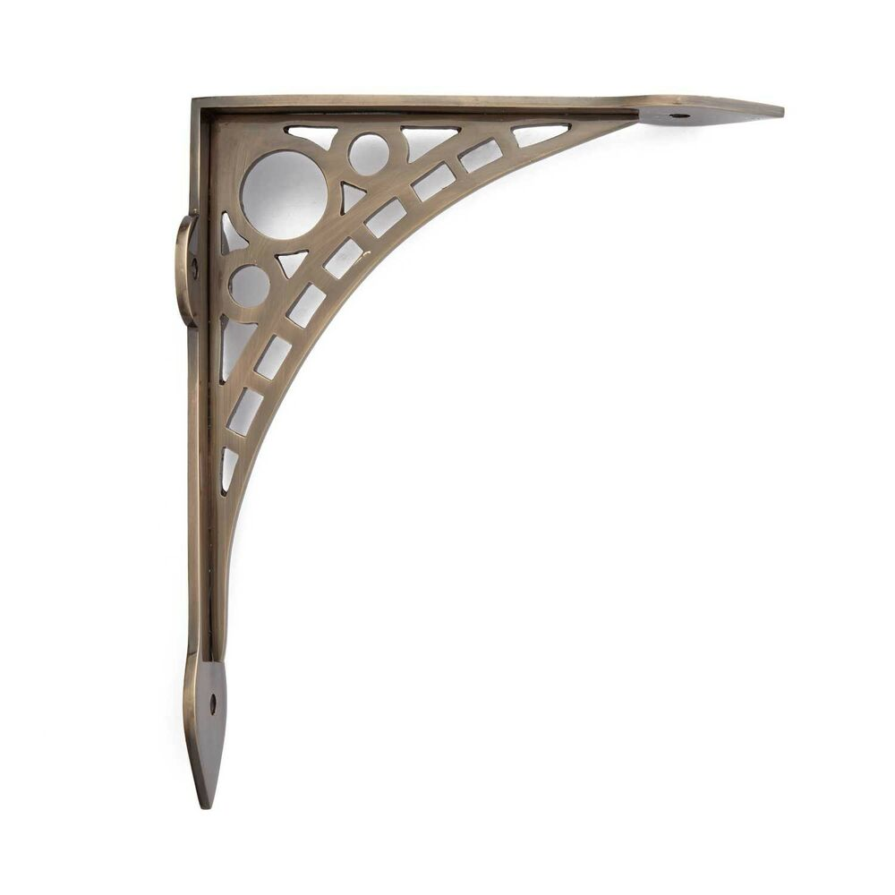 Naiture Solid Brass Wall Mount Shelf Bracket In 2 Sizes