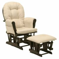 Baby Nursery Bowback Glider Rocker Rocking Chair Espresso ...