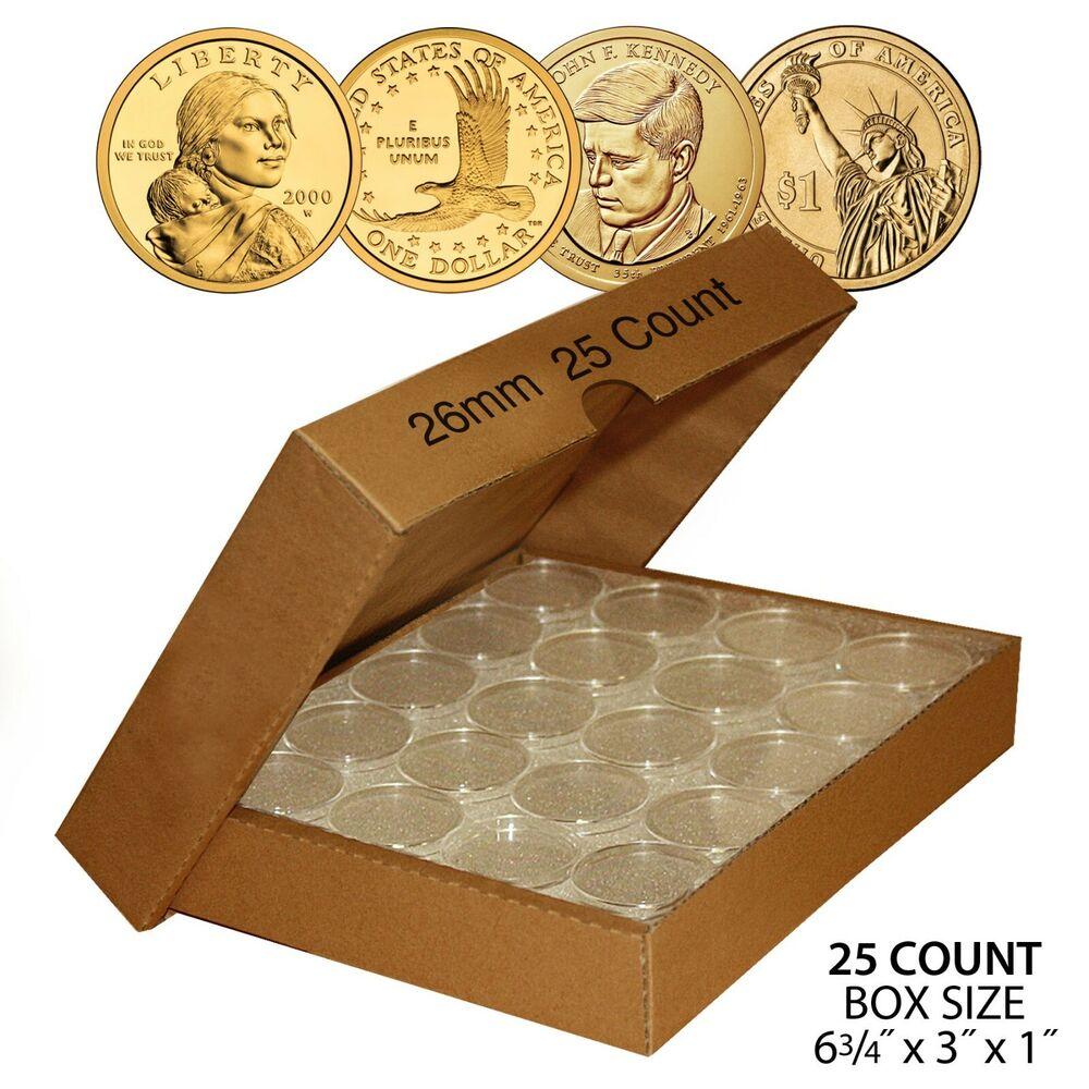 25 Direct Fit Airtight A26 Coin Holders Capsules For