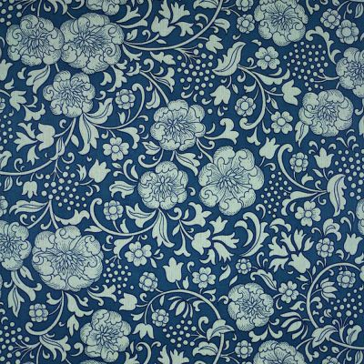 1960s 70s ORIGINAL BLUE FLORAL Wallpaper - Retro Vintage | eBay