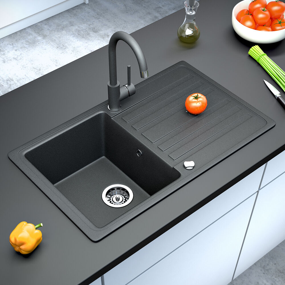 Schock Waschbecken Bergstroem Granite Kitchen Built-in Sink Reversible