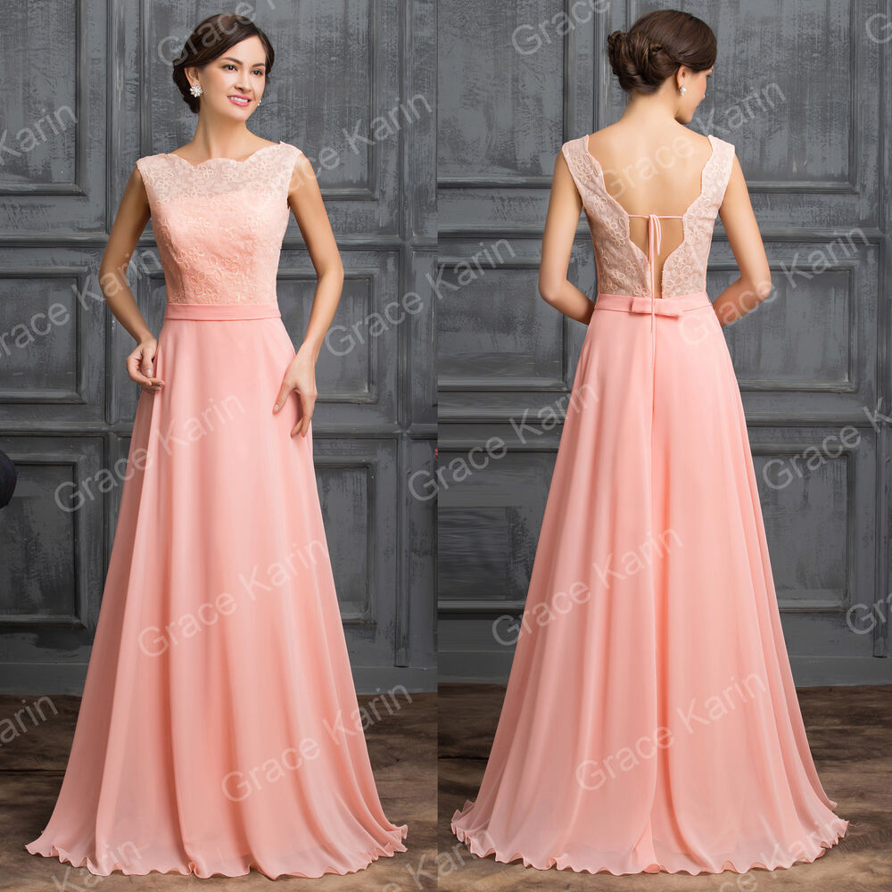 long dresses for weddings VINTAGE Wedding Guest Long Bridesmaid MAXI Dress Gown Evening Formal Party Prom eBay