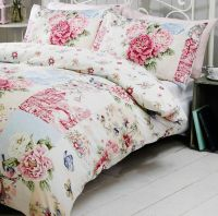 vintage patchwork duvet quilt cover bedding set pink or ...