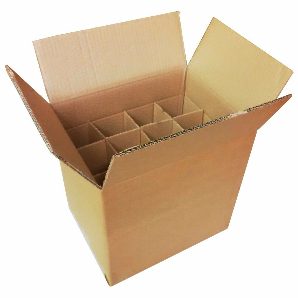 Cardboard Box Dividers Cardboard Bottle Boxes With Dividers For Box Home Brew Wine Beer Cider Bottles 5060368583879 Ebay
