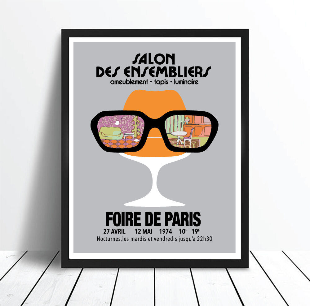Salon Foire De Paris Salon Des Ensembliers Vintage Foire De Paris Art Print Poster Canvas Pint Ebay