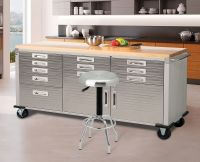 Workbench Table Garage Storage Steel Tool Box 12 Drawers ...