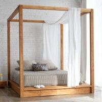 Modern White Sheer Window Valance Canopy Bed Curtain Scarf ...