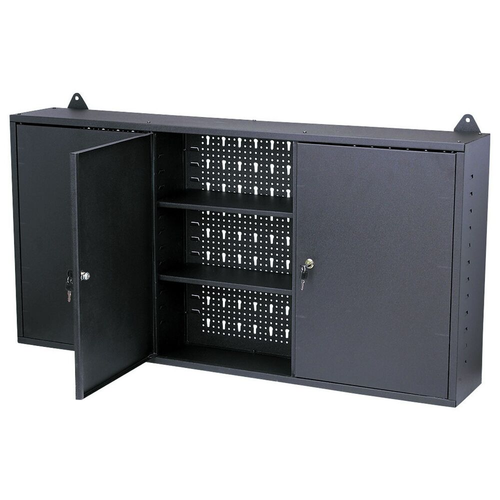 Shop Tool Boxes Wall Mount Hanging Tool Box Cabinet With Locks Garage Shop Home Storage New Ebay