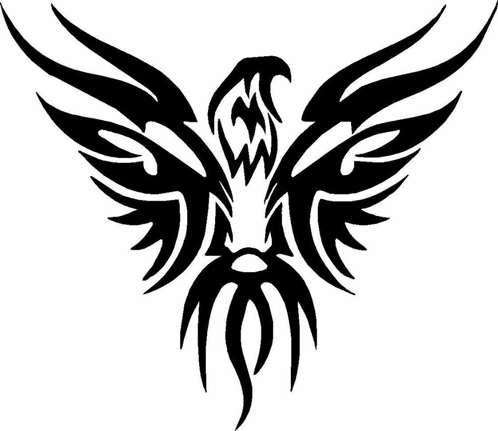 Tribal eagle flame vinyl decals stickers for car or truck
