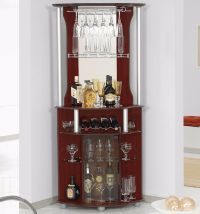 Bar Cabinet Corner Home Bottle Storage Wine Rack Liquor ...