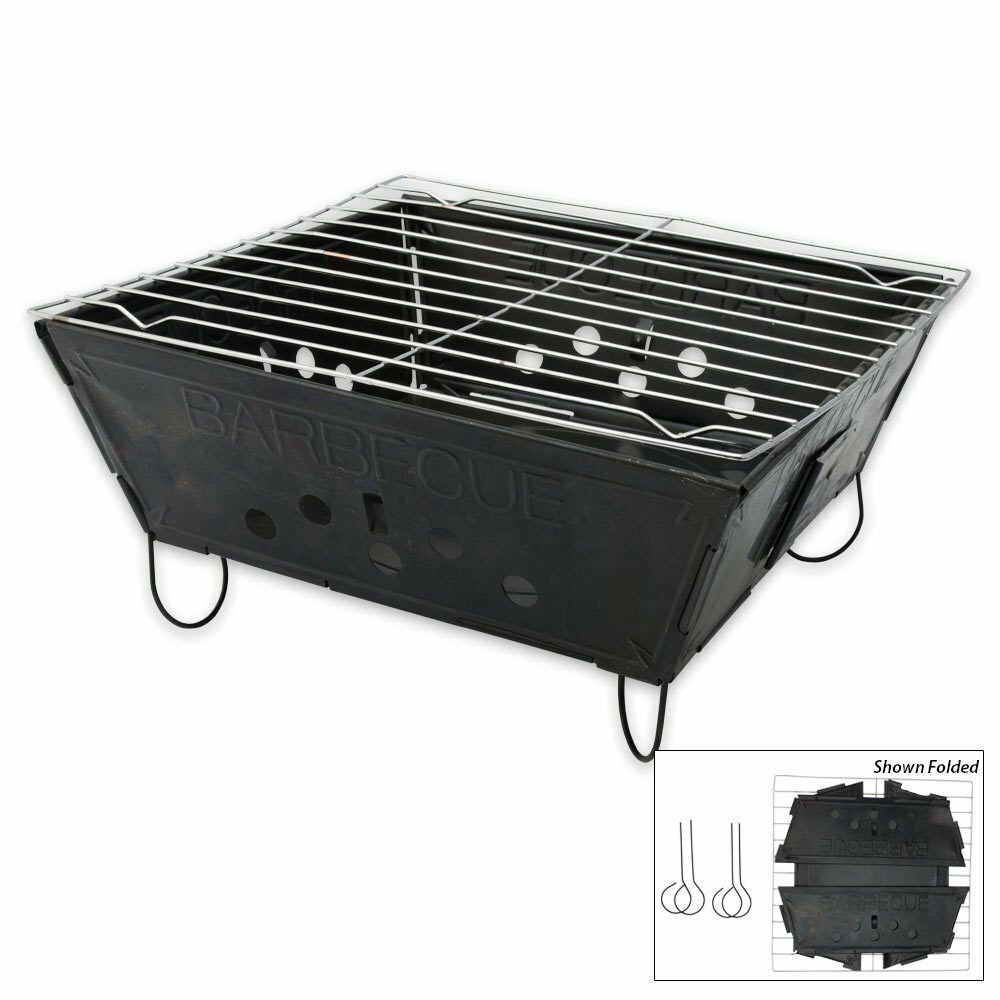 Flat Pack Outdoor Kitchen Foldable Folding Bbq Barbecue Flat Pack Portable Camping Outdoor Garden Grill 799872168009 Ebay