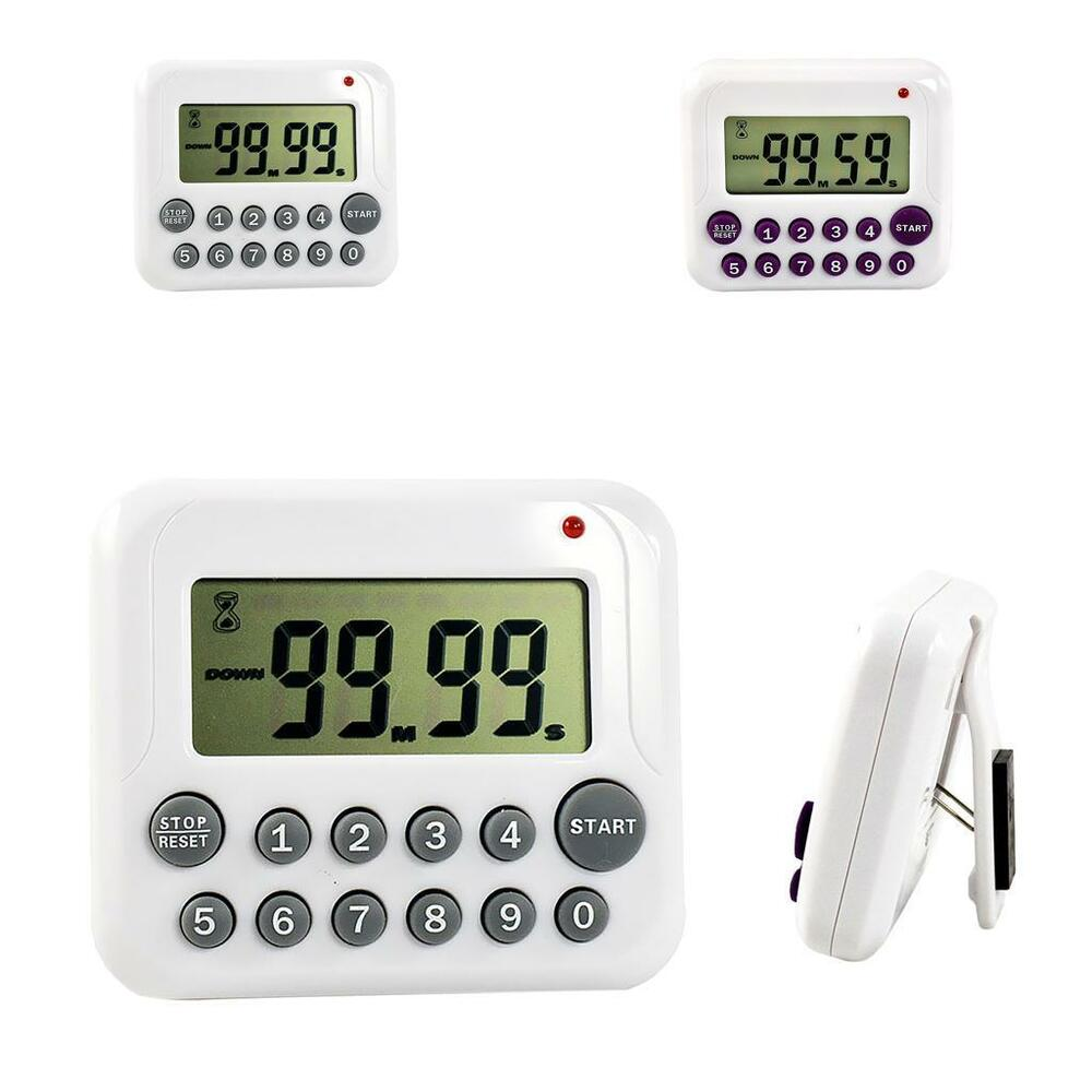 Alarm Timer Digital Count Down And Up Event Timer Lcd Cooking Kitchen Alarm Timer Reminder Ebay