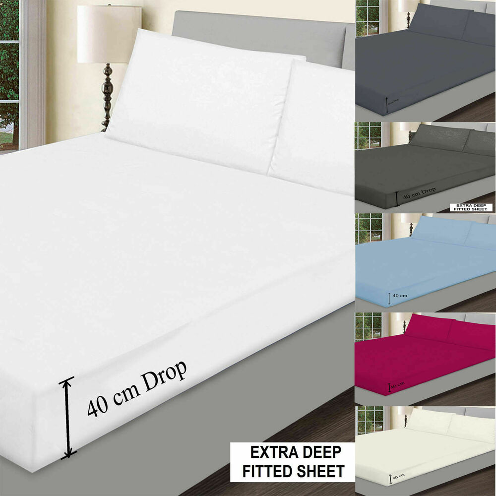 Deep Fitted Sheets Queen Size Extra Deep King Bed Sheets